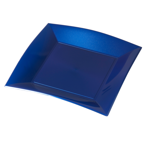 Depa Plate, square ,  pearl, PP, 230x230mm, blue 1
