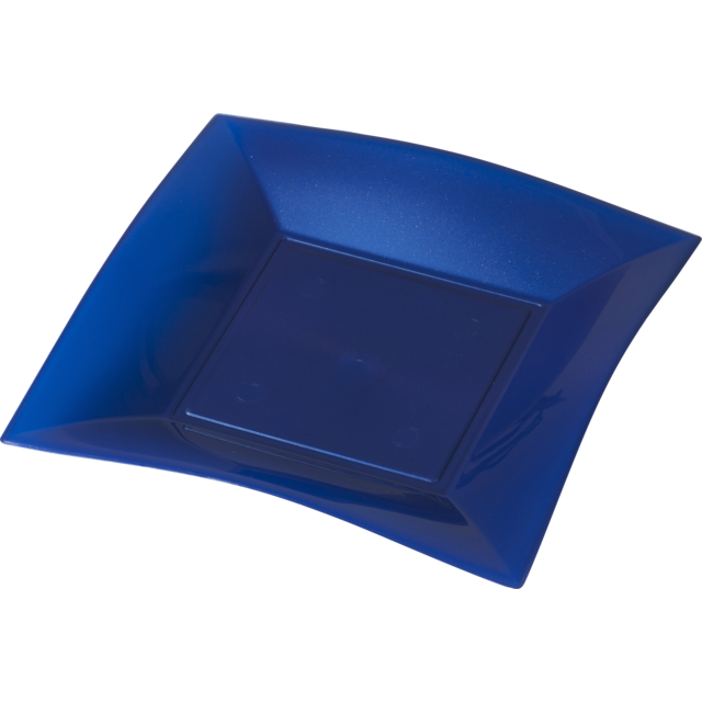 Depa Plate, square ,  pearl, PP, 290x290mm, blue 1