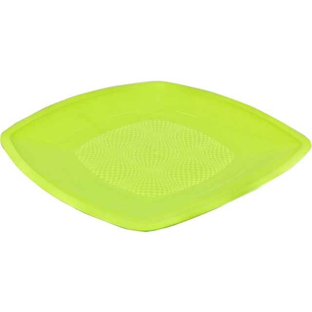 Depa Plate, square ,  summertime, PP, 230x230mm, neon Green 1