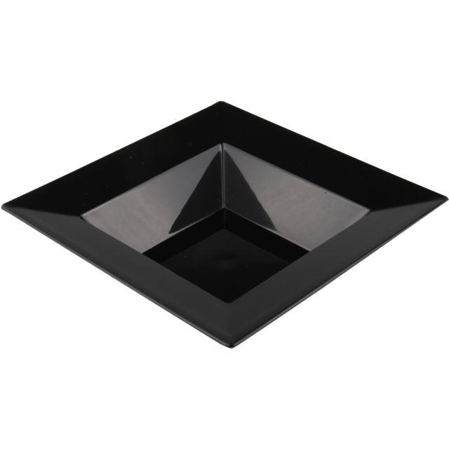 Depa Plate, square ,  1 compartment, PS, 215x215mm, black 1