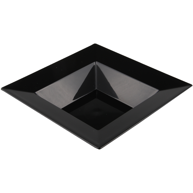 Depa® Plate, square ,  1 compartment, PS, 145x145mm, black 1