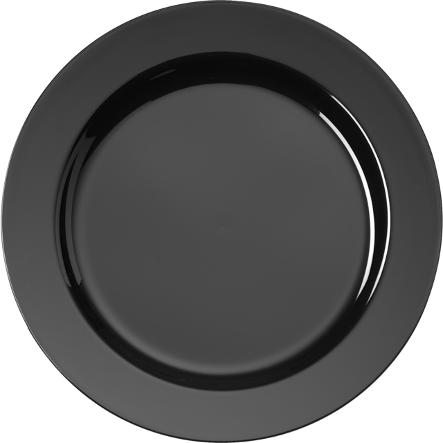 Depa Plate, round,  1 compartment, PS, Ø152mm, black 1
