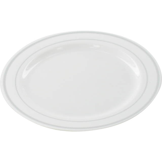 Depa Plate, round,  1 compartment, PS, Ø152mm, white/Silver 1