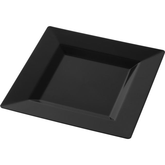 Depa® Plate, square ,  1 compartment, PS, 240x240mm, black 1