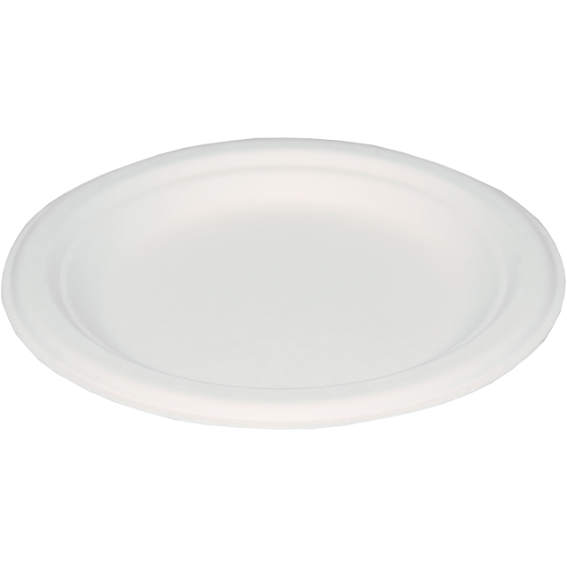 Plate, round,  1 compartment, Paper, Ø170mm, white 1