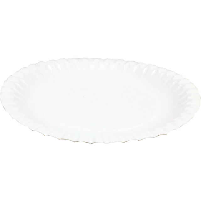 Depa Plate, round,  1 compartment, Cardboard, Ø180mm, white 1