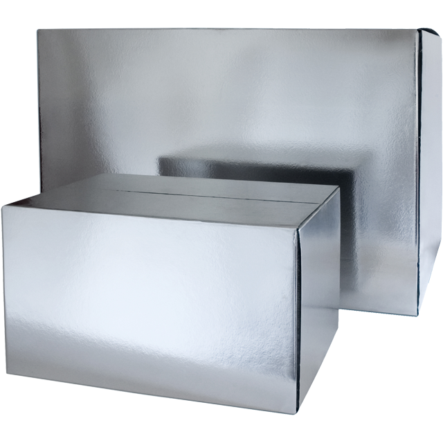 SendProof® Cool box, 420x315x410mm, silver 1