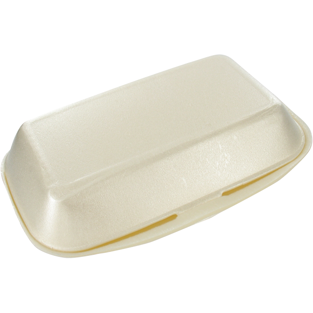 Container, EPS, lunch box, 240x133x75mm, champagne 1