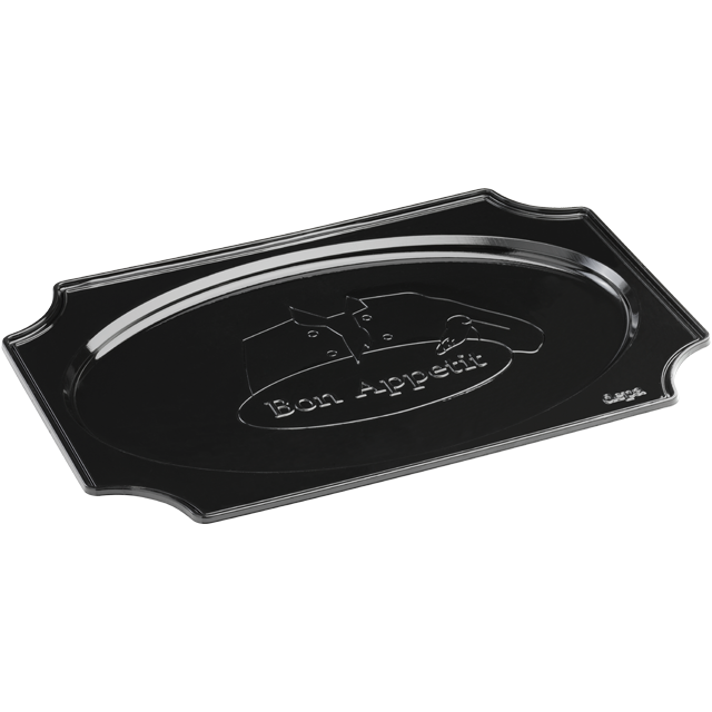 Depa Catering serving tray , catering platter, PS, oval, 350x240mm, bon appetit, black 1