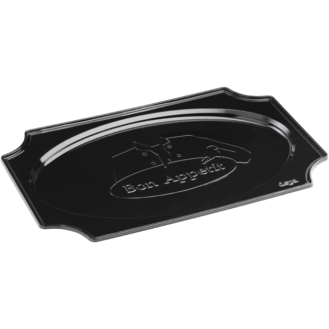 Depa Catering serving tray , catering platter, PS, oval, 450x310mm, bon appetit, black 1