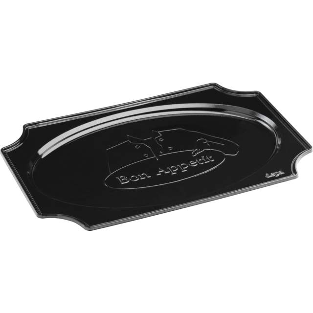 DEPA® Bowl, catering platter, PS, oval, 550x360x bon appetit, black 1