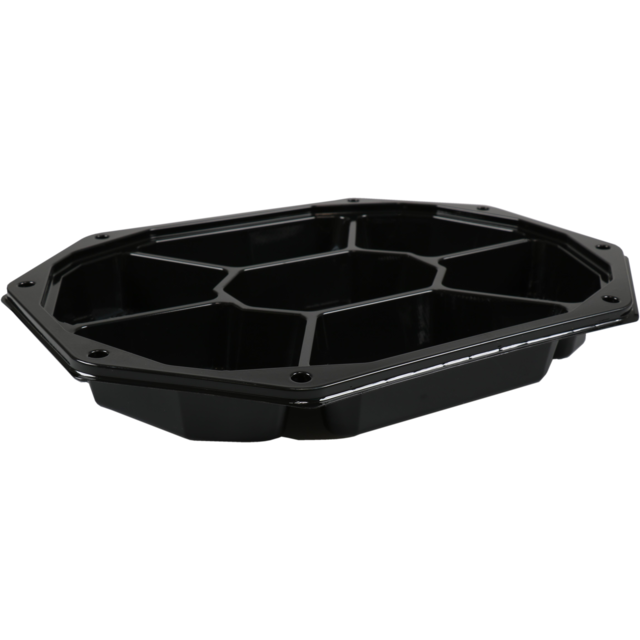 Catering serving tray , catering platter, PS, octagon, 335x250mm, black 1