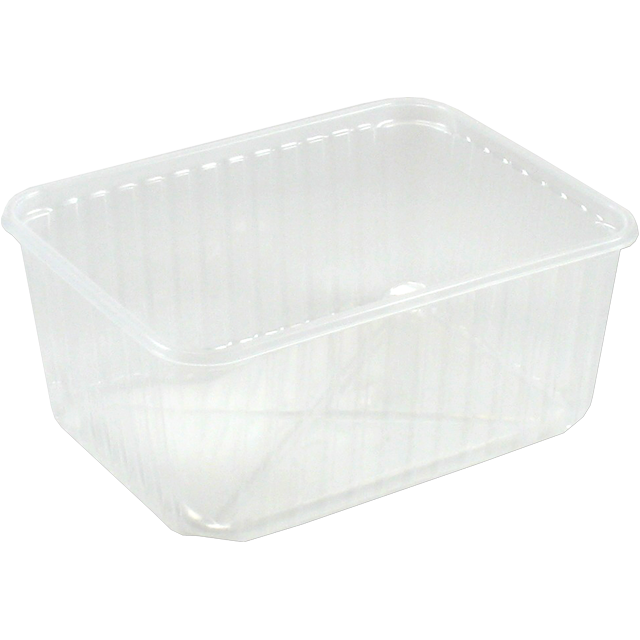 Container, PP, 1500cc, kilo container, 180x135x82mm, transparent 1