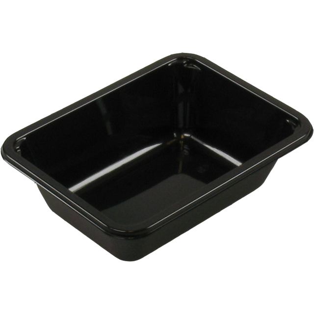 Container, CPET, 1 compartment, menu container, 171x127x50mm, black 1