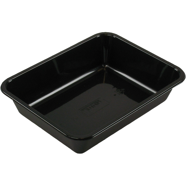 Container, CPET, 1 compartment, menu container, 228x178x50mm, black 1