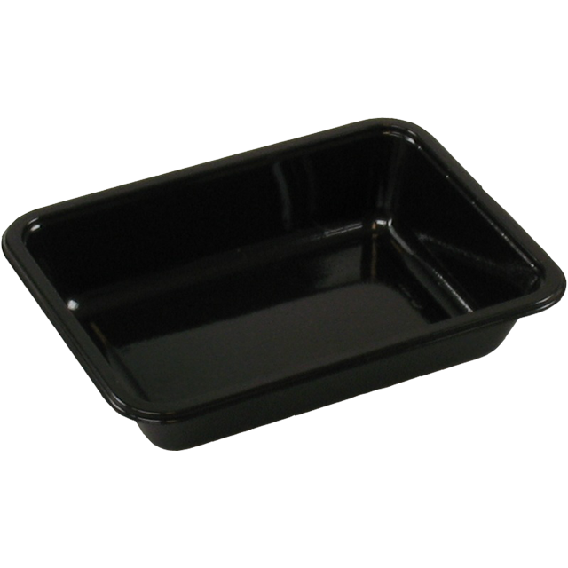 Container, CPET, 1 compartment, menu container, 171x127x35mm, black 1