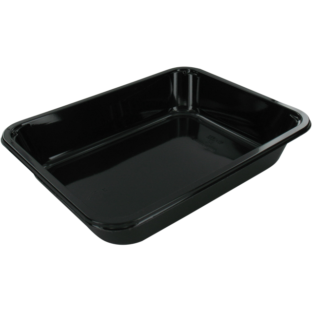 Container, CPET, menu container, 228x178x43mm, black 1
