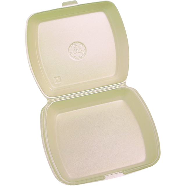 Container, EPS, 1 compartment, menu container, 240x195x72mm, beige 1