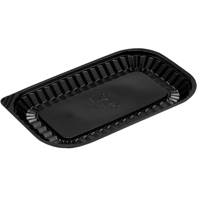 Catering serving tray , meat tray, PS, rectangular, 250ml, 228x140mm, black 1
