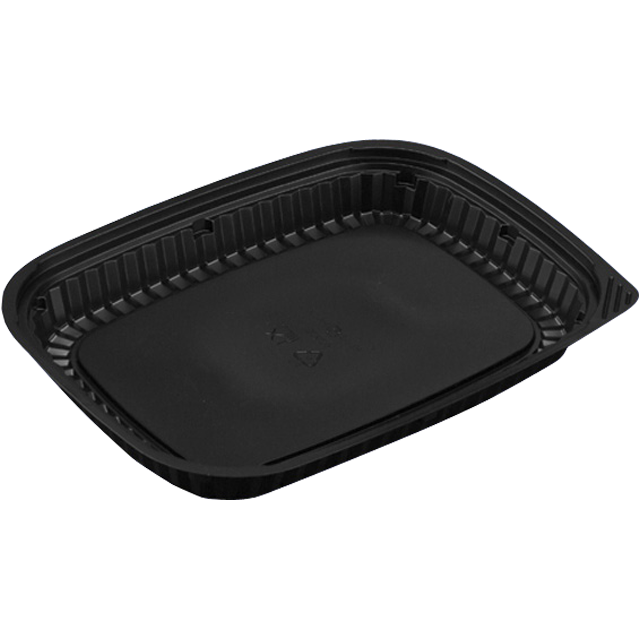 Catering serving tray , meat tray, PS, rectangular, 550ml, 260x190mm, black 1