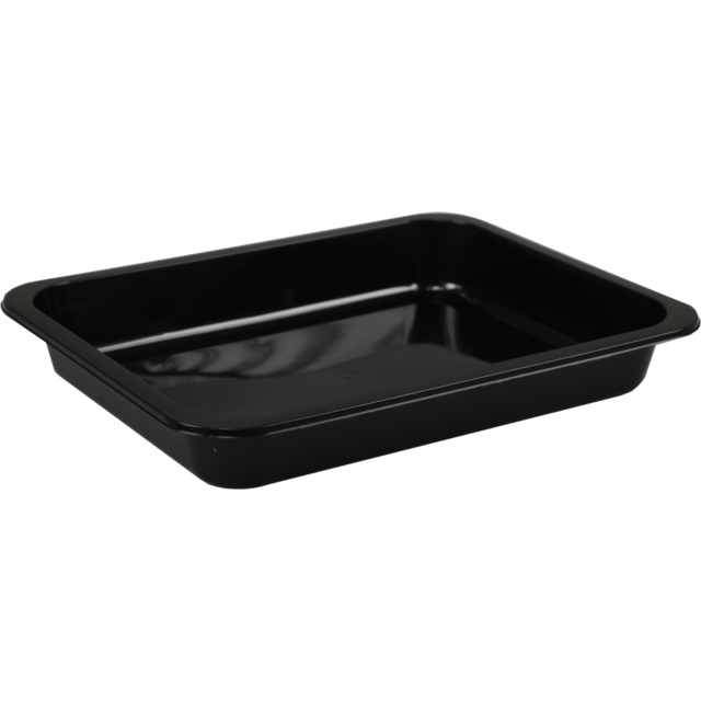 Container, PP, 1 compartment, 900cc, 227x177x30mm, black 1