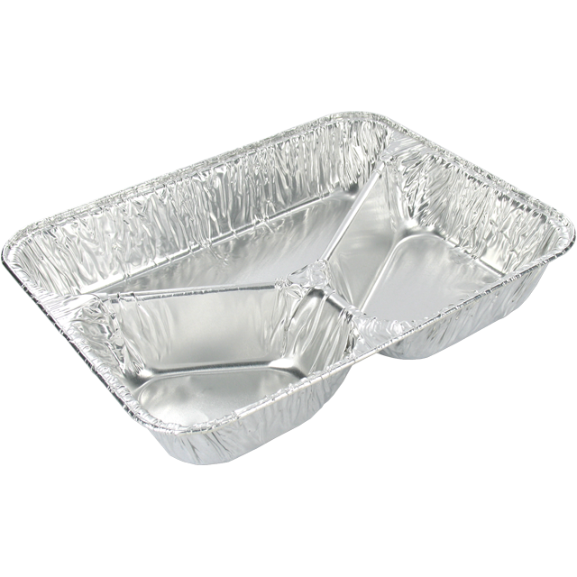 Container, Aluminum, 3 compartments , 227x178x40mm, aluminum 1