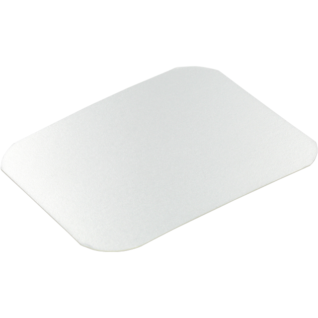 Lid, Cardboard and aluminum, rectangular, 122x96mm, aluminum 1