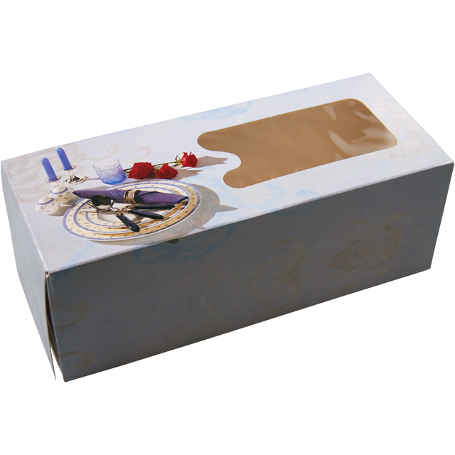 Catering box, Cardboard, 100x250x90mm, white 1