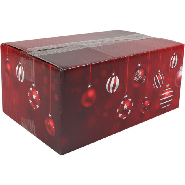 Christmas gift box, Sparkling Holidays, Cardboard, 31x20x14cm, Christmas , a, red 1