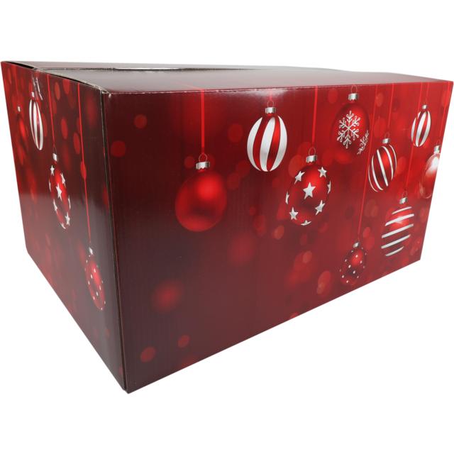 Christmas Gift Box Sparkling Holidays Cardboard 55x39x30cm Christmas E Red