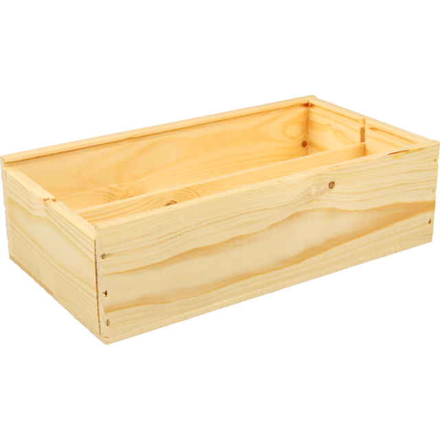 Wine box, wood, 2 bottles , zonder deksel, 176x340x85mm 1