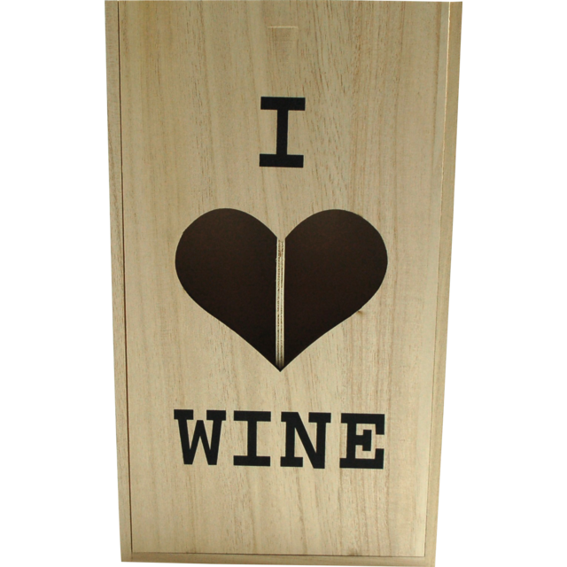Wine box, wood, 2 bottles , met deksel, 10.5x34.5x20cm 1
