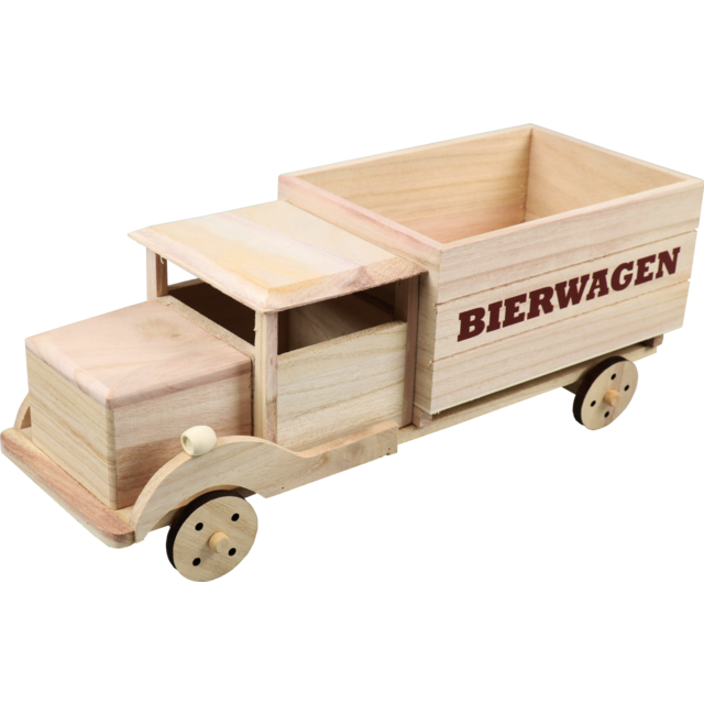 Beer packaging, Car, Wood, 6 bottles , 40x14.5x15.5cm, natural 1