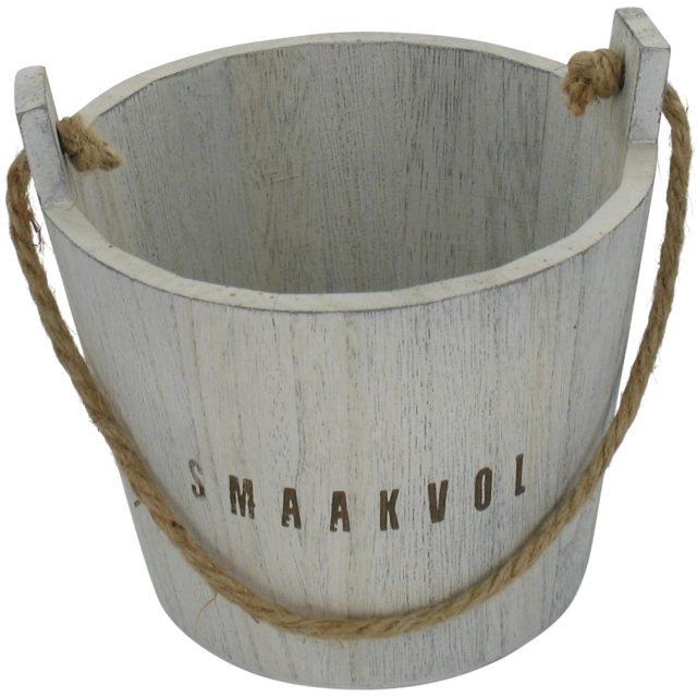 Bucket, Tasteful, Wood, 12.7cm, 14.2cm, 13.8cm, natural 1