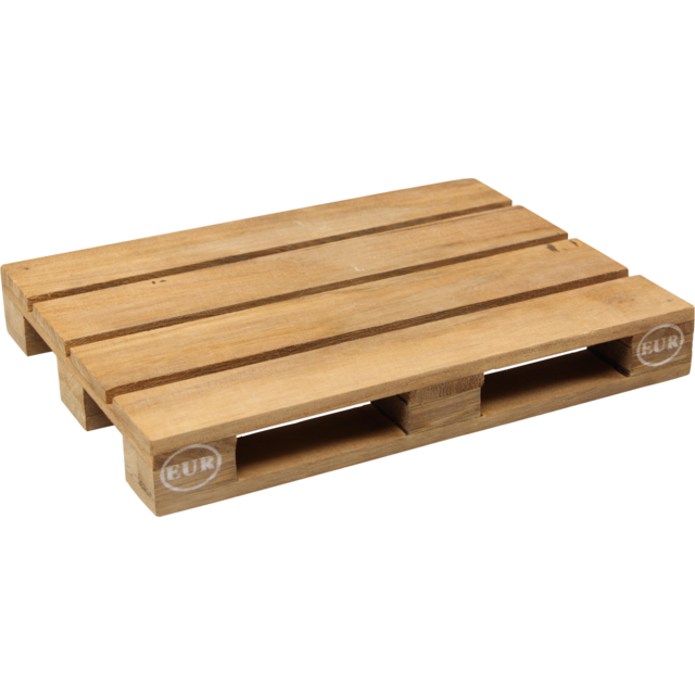 Pallet, Wood, 18.5x13.5x2.3cm, natural 1