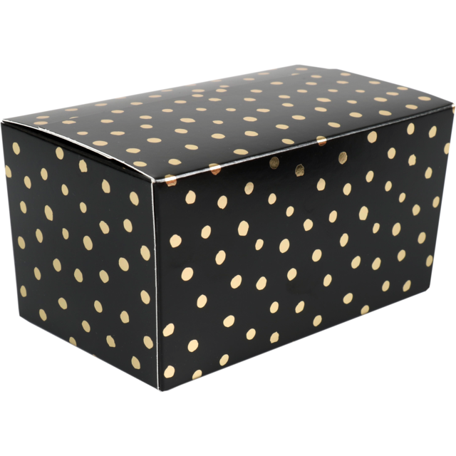 Ballotin, Party dots, karton, 500gr. zwart/Goud 1