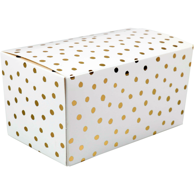 Ballotin, Party dots, cardboard, 500gr. white/Gold 1