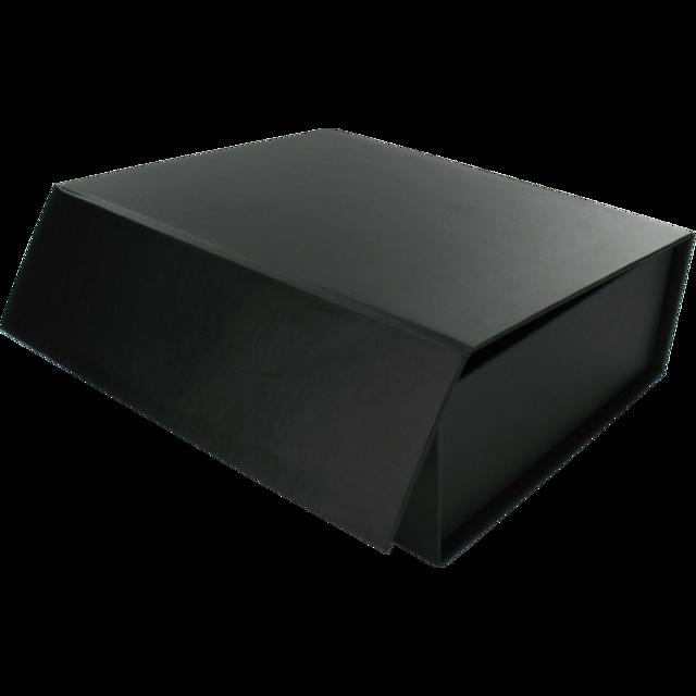 Gift Box Cardboard 155x130x50mm Magnetic Closure Black 496865