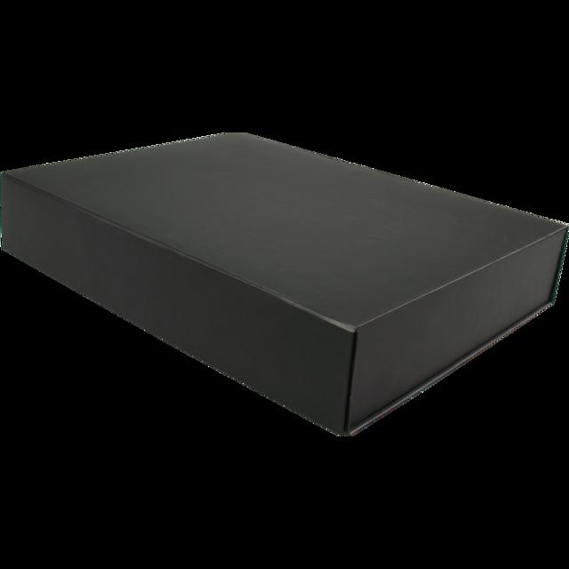 gift box cardboard 390x290x70mm magnetic closure black. Black Bedroom Furniture Sets. Home Design Ideas