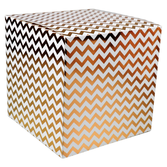 LOVLY® Box, Chevron, 20x20x20cm, wit/Goud 1