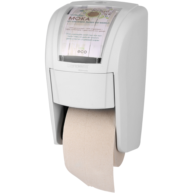 100%eco, Toilet paper dispenser, PS, 31cm, beige 1