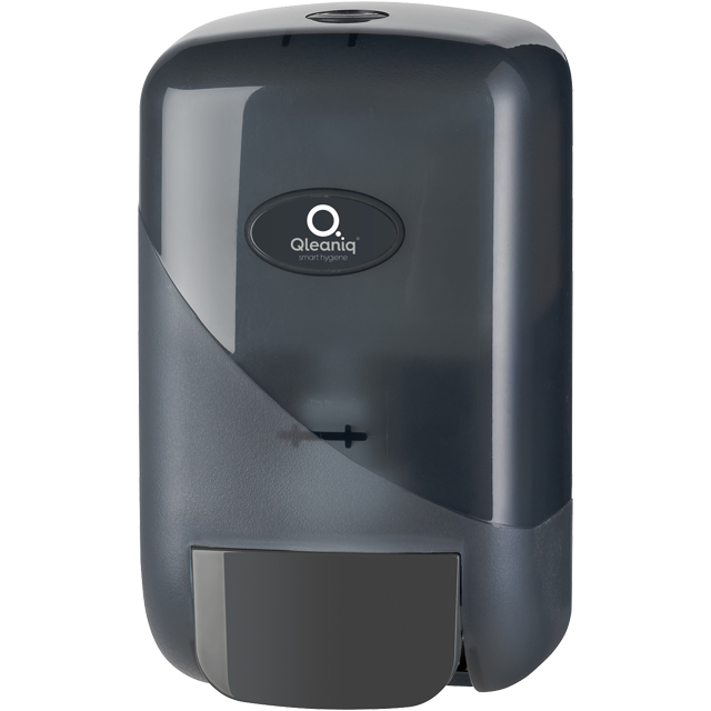 Qleaniq®, Soap dispenser, Plastic, design luxury, , black 1