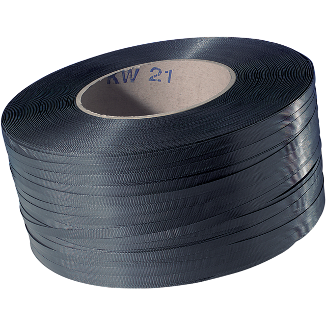 Strapping tape, PP, 12mm, kern 200mm, 3000m, black. 1