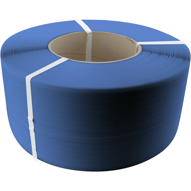Strapping tape, PP, 12mm, kern 280mm, 2500m, blue. 1