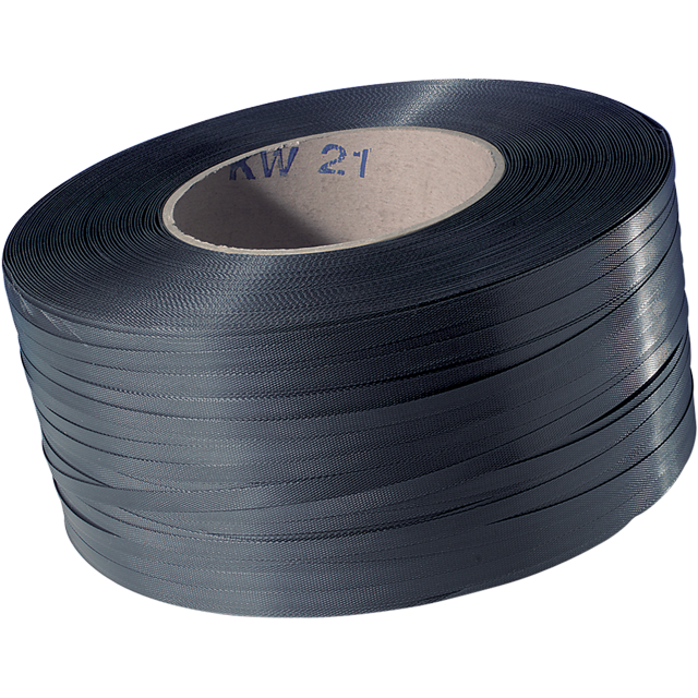 Strapping tape, PP, 16mm, kern 200mm, 2500m, black. 1