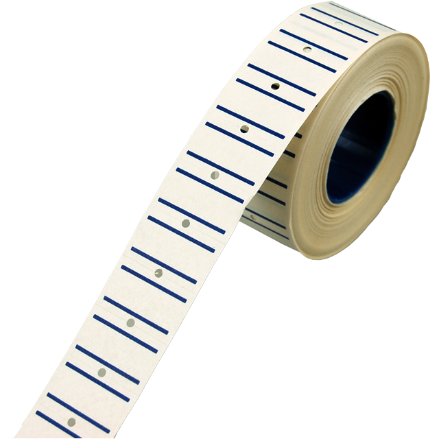 Label, Price label, Paper, 21x12mm, blue 1