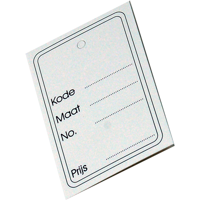 Label, Clothing label, Cardboard, 40x60mm.white 1