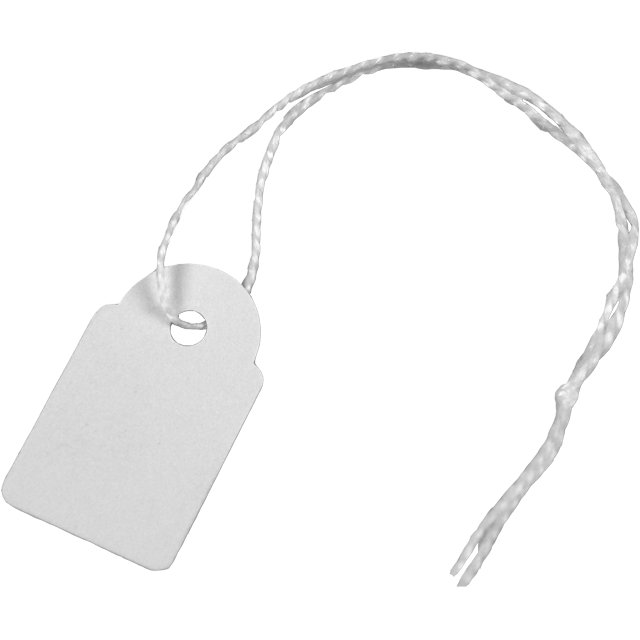 Label, Hanging tags, Cardboard, 15x24mm, white 1
