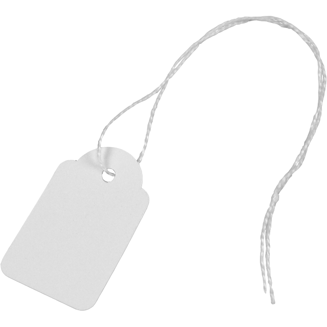 Label, Hanging tags, Cardboard, 22x35mm.white 1