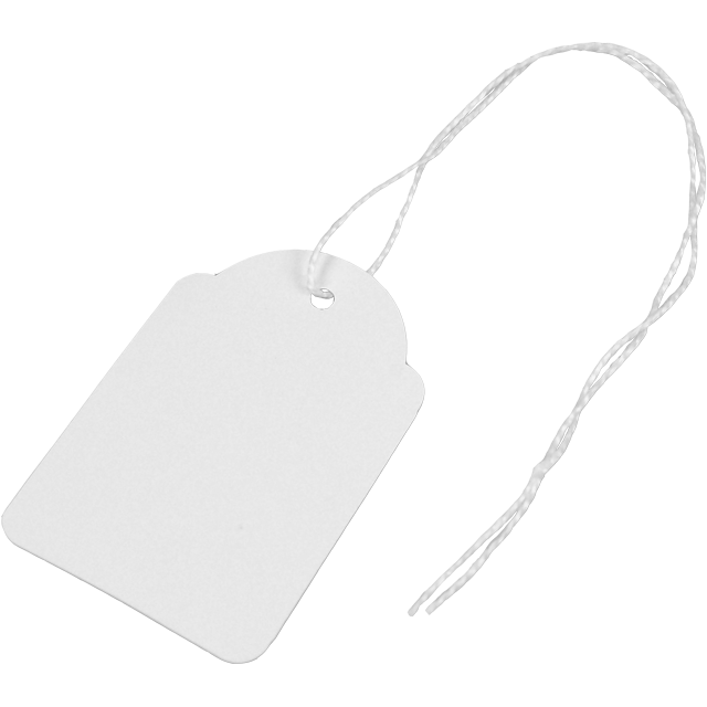 Label, Hanging tags, Cardboard, 36x53mm.white 1